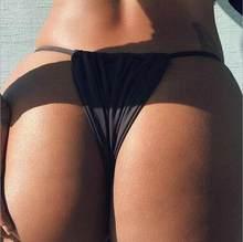 Seksi Tanga Bikini alt kadın brezilyalı mayo katı dize mayo plaj Bikini külot Tanga Bikini dipleri yüzmek mayo