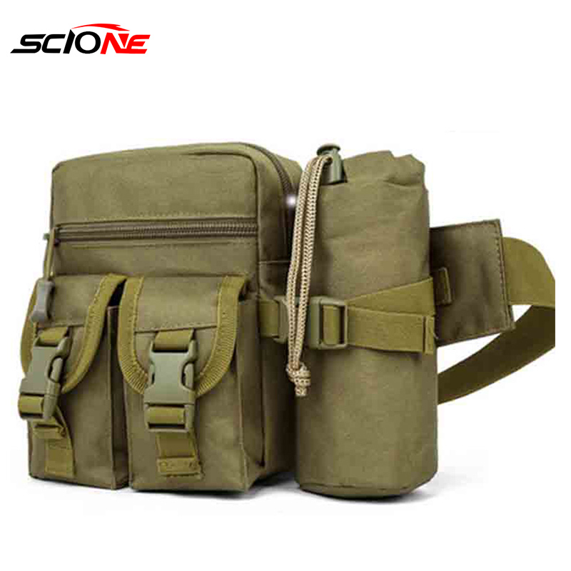 New Waist Pack Military Bum Bag With Bottle Holder for Cycling Camping Hiking