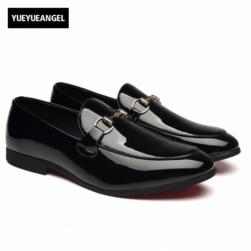 Slip On Round Toe Mens Formal Shoes Male Footwear Autumn New Fashion Korean Style Hot Sale Pu Leather Black Plus Size Chaussure