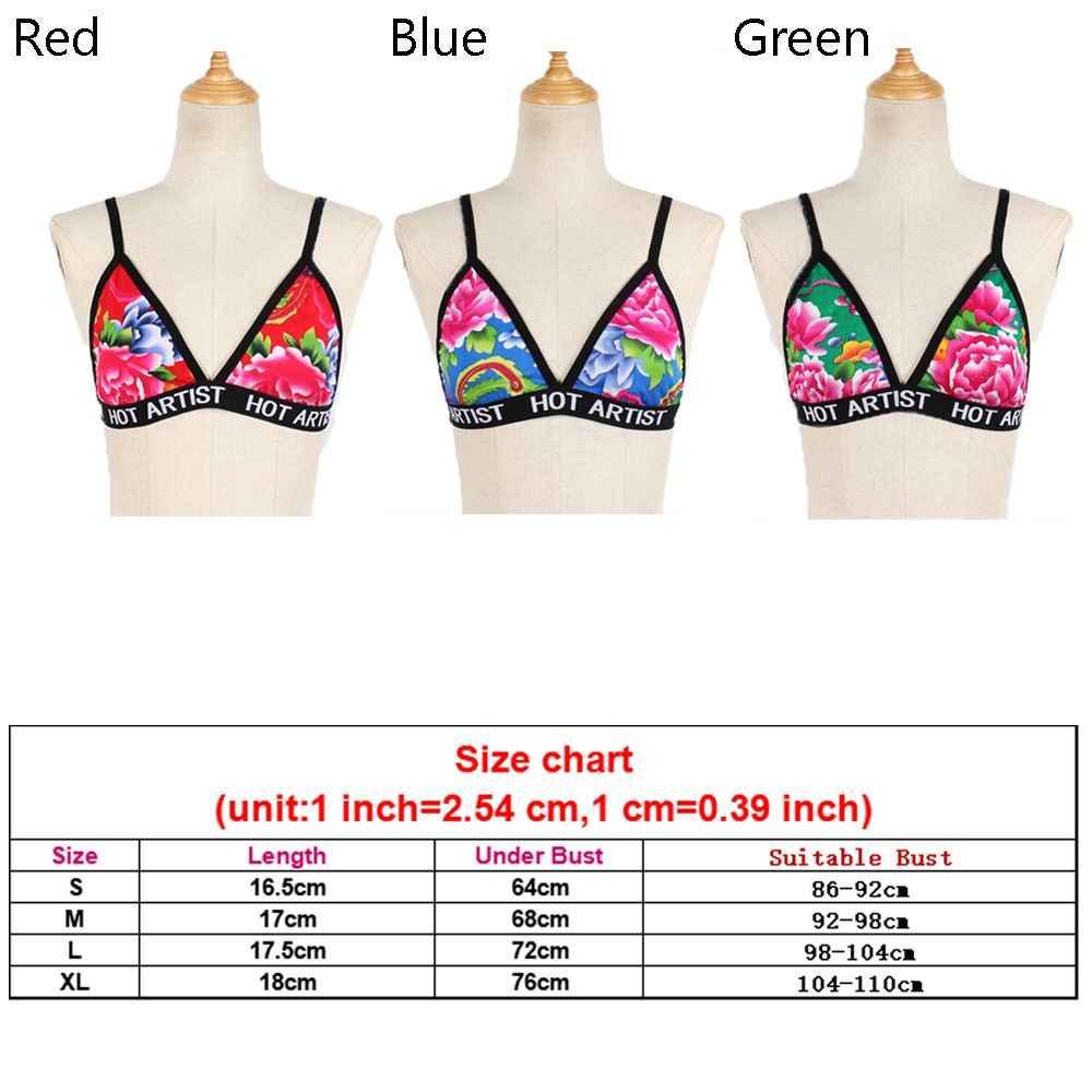 0c8969a488f ... Women Sexy-Lingerie Lotus Flower Glitter Transparent Bra Underwear  Bandage Crop Tank Top Bralette Bustier