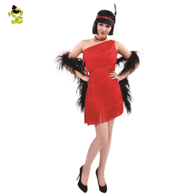 Womens Red Sequin Flapper Dress Costume adult 1920 s fancy dress Cosplay  Party Costumes 79d4f09cea6d