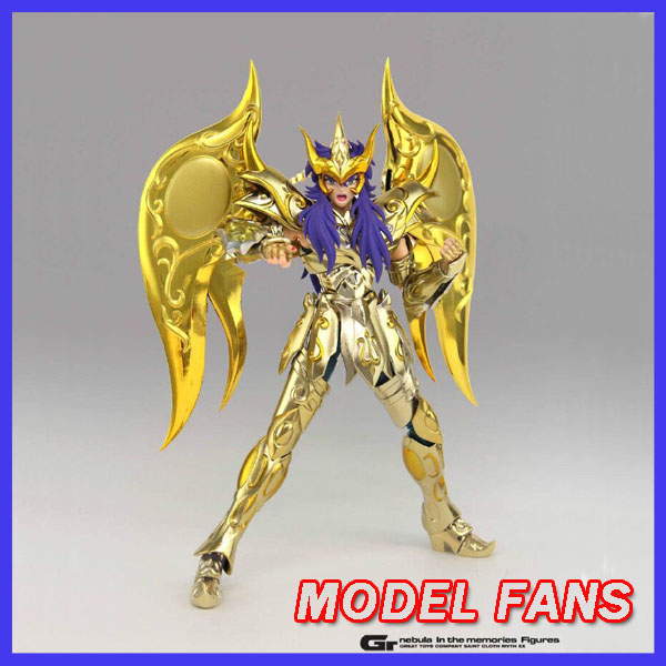 MODEL FANS IN-STOCK GreatToys Stora leksaker gt EX soul av Gold Sog Scorpio Miro Saint Seiya metallpansar Myth Cloth Action Figur