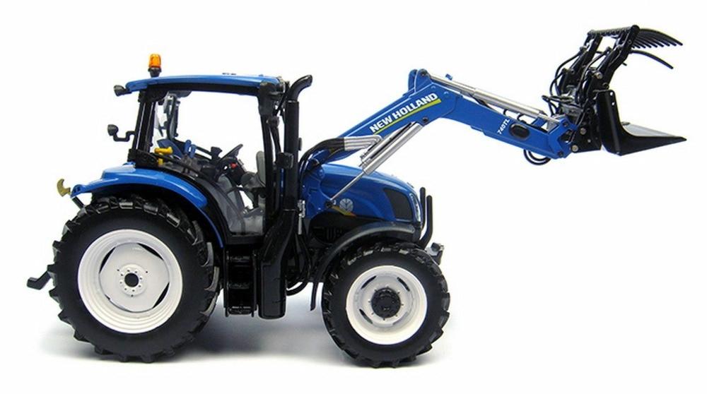 UH5320 1/32 новая голландская T6.175 синяя мощность с фронтальным погрузчиком игрушки
