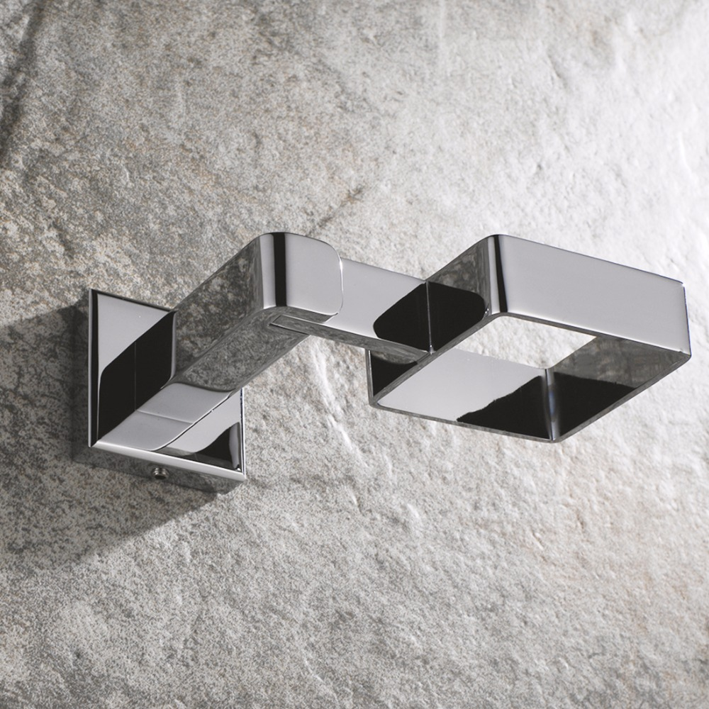 FLG Wall Mounted Square Cup & Tumbler Holders Chrome Polished Glass ...