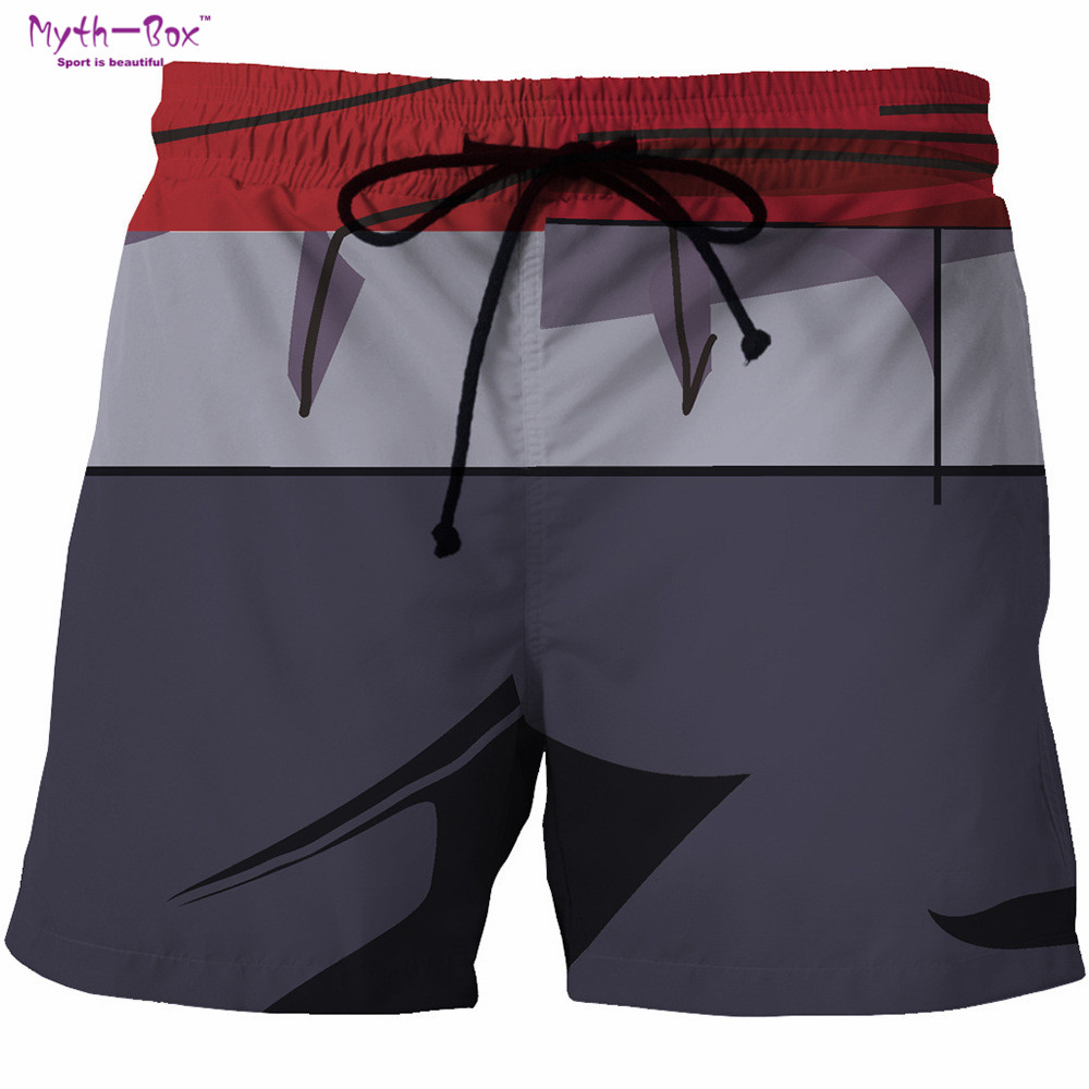 Summer Men's Beach   Shorts   Pants Cartoon Print Man Gym Bermuda Surf   Board     Shorts   High Quality Male Holiday Swimsuit Surf Swimwear