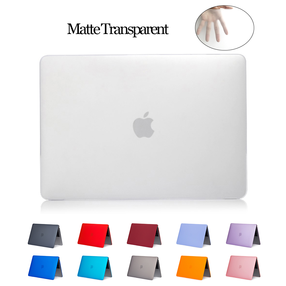 Matte Laptop Cases For Apple Macbook Air 13 11 Pro Retina 12 13.3 15.4 Cover For Macbook New Air 13 Pro 13 With Touch Bar