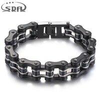 Free Shipping SDA 316L Stainless Steel Fashion Men Bracelets Sky Black 16mm Width Mixed Style Punk Rock Jewelry 7.5 10 YM011