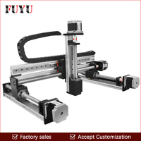 cnc ball screw linear guide rail slide motion actuator XYZ stage table robotic arm Z axis 250mm router with nema23 stepper motor