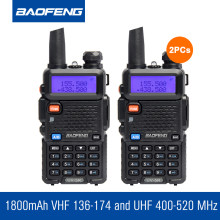2pcs/Lot Original Baofeng Walkie Talkie Handheld Transceiver CB Radio Dual Band Radio Communicator Ham Radios HF Transceiver(China)
