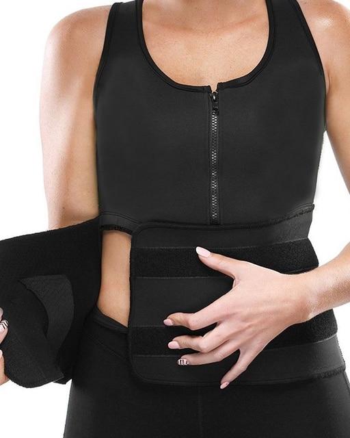 NEW Neoprene Sauna Vest Body Shaper Slimming Waist Trainer Shaper Fashion Workout Shapewear Adjustable Sweat Belt Corset 3
