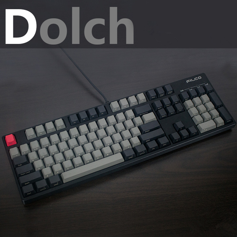 Cool Jazz Black Gray mixed Dolch Thick PBT 104 87 68 61 Keycaps OEM Profile Key caps For MX Mechanical Keyboard Free shipping цена