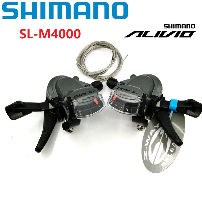 2c121a25a58 SHIMANO ALIVIO M4000 3/9 Speed 27 Speed Shift Lever MTB Mountain Bike  Shifter Folding Bicycle Derailleur Accessories SL-M4000