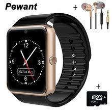 Pewant bluetooth smart watch smartwatch reloj deportivo reloj de pulsera para android teléfono Con Cámara FM Tarjeta de la Ayuda SIM PK A1 DZ09 GT08