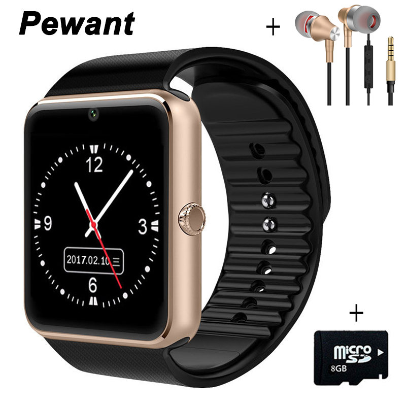 Galleria fotografica Pewant Bluetooth Smart Watch <font><b>Smartwatch</b></font> Sport Watch WristWatch For Android Phone With Camera FM Support SIM Card PK A1 DZ09 GT08
