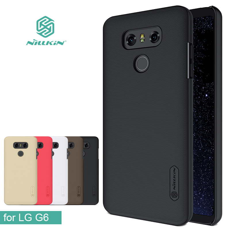 for LG G6 Phone Cases Nillkin Super Frosted Shield Hard Back PC Cover Case for LG G6 Matte Phone Case + Screen Protectorfor LG G6 Phone Cases Nillkin Super Frosted Shield Hard Back PC Cover Case for LG G6 Matte Phone Case + Screen Protector