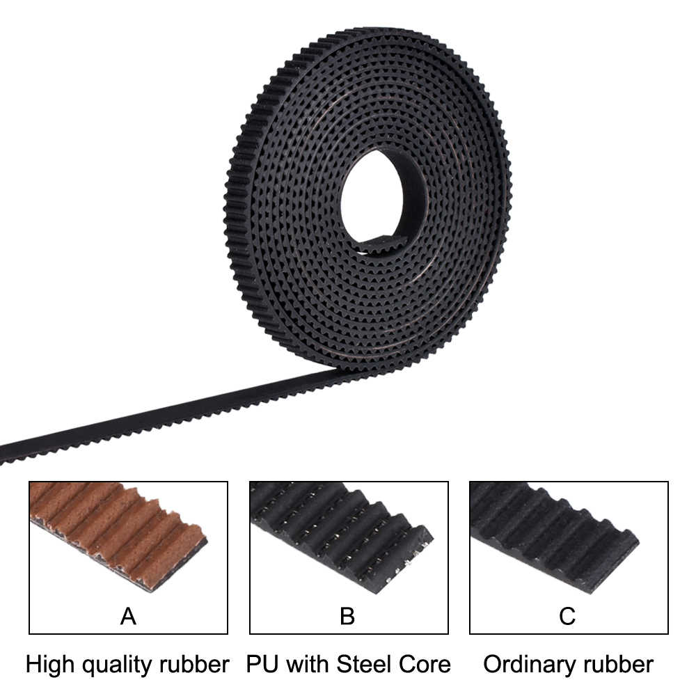 2/5meter GT2-6mm Open Timing Belt Width 6mm 10mm GT2 belt PU With Steel Core Belt 2GT Timing Belt For Reprap 3D Printer Parts