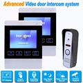 4 inch TFT Wired Video Door Phone Video Intercom Camera Doorbell Security Camera Monitor 2-way Intercom Support SD Card F1376D