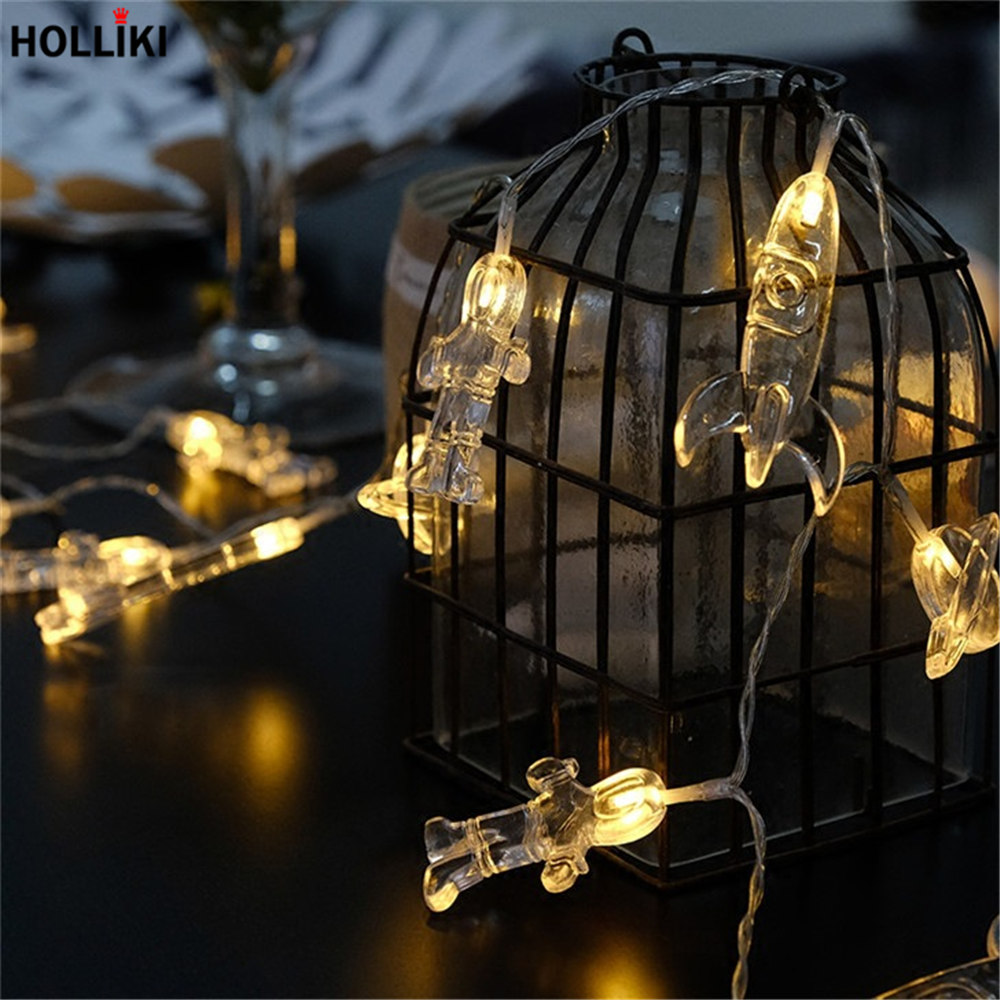 1.5m 2m 3m LED Wire Light String Lights Outer Space Astronaut Lanterns Lamp  Battery Operated Lights For Christmas Festival Decor In Lighting Strings  From ...