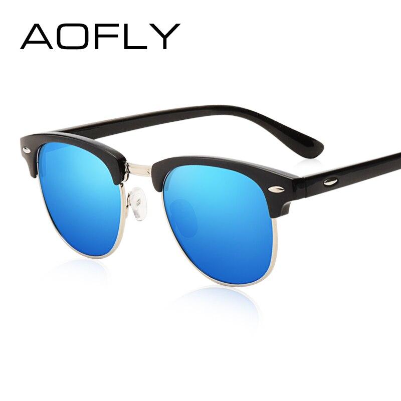 AOFLY Classic Half Metal Polarized Sunglasses Men Women Brand Designer Glasses Mirror Sun Glasses Fashion Gafas Oculos De Sol|de sol|oculos de solpolarized sunglasses men - AliExpress