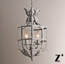 Vintage Retro Replica item Acanthus Lantern Pendant Metal Cage Chandelier Three-Light  Free Shipping
