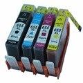 4 color 1 conjunto de cartuchos de tinta para hp hp655xl hp655 655 xl 655XL Deskjet Vantagem Tinta 3525 4615 4625 5525 6520 6525 Impressora de 6520c