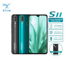 Leagoo teléfono inteligente S11, teléfono móvil con pantalla anti gotas de 6,3 pulgadas, 4GB RAM, 64GB ROM, procesador Helio P22, Octa Core, Android 9,0, reconocimiento de huellas dactilares