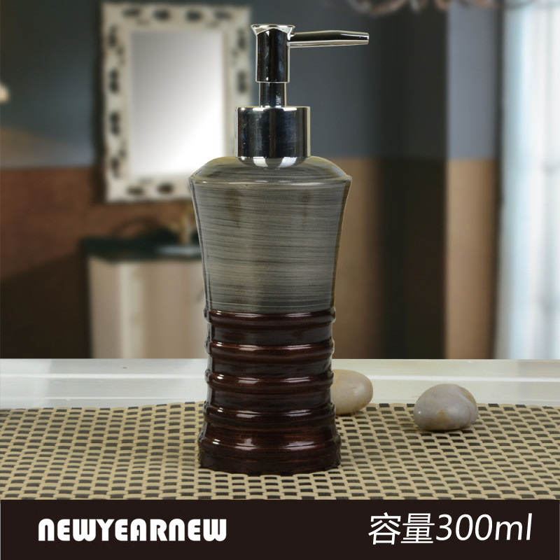 newyearnew 300lm liquid soap bottle resin creative emulsion lotion bottle bathroom accessories set home decoration wedding