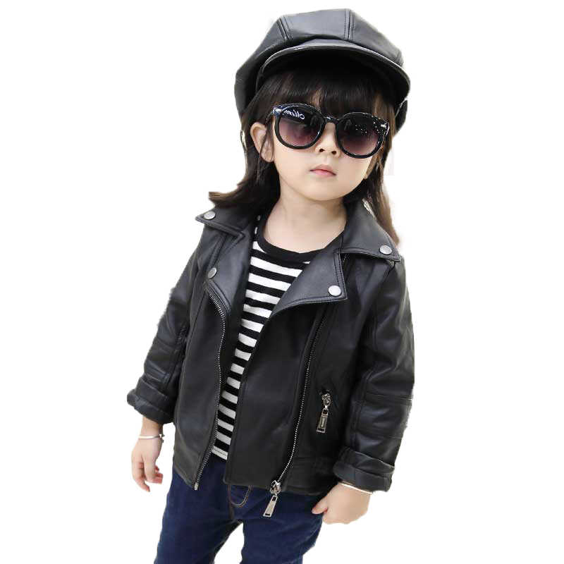 747ce5cec372 Detail Feedback Questions about Girls PU Leather Jacket Boys Coats ...