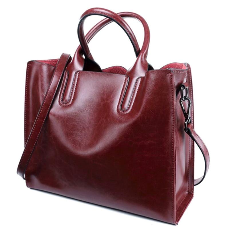 Luksusowe 100% prawdziwej skóry kobiet torebki projektant marki skóry wołowej prawdziwa skóra kobiet torby listonoszki skrzynki Bolsa Feminina w Torby z uchwytem od Bagaże i torby na  Grupa 2