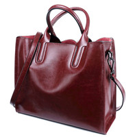 Real Leather Luxury Women Designer Handbags Brand Cowhide Genuine Leather Women Shoulder Messenger Bags Totes Bolsa