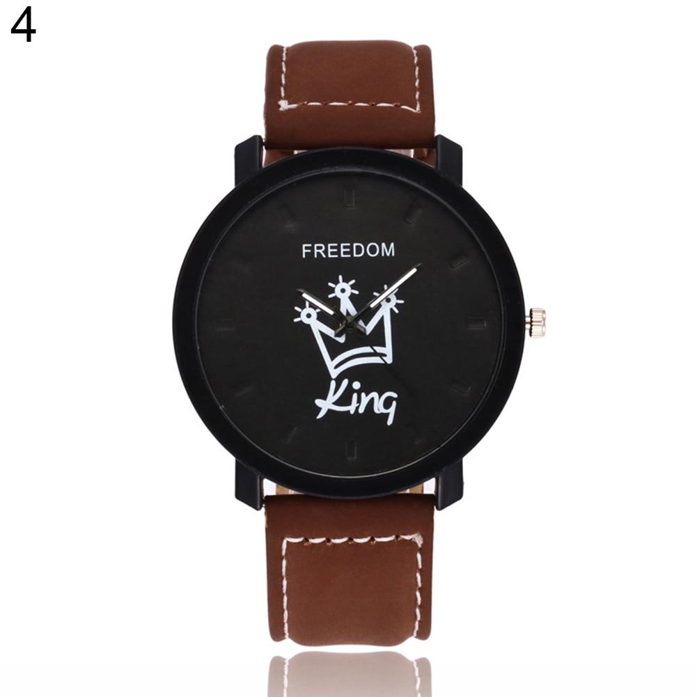 Новинка, пара, Королевская корона, Fuax, кожа, Кварцевые аналоговые наручные часы, хронограф, Wom reloj mujer - Цвет: 4