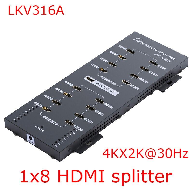 LKV316A 4Kx2K HDMI Splitter 1x16 Full 3D 4Kx2K Wall-Mountable Power Splitter Hdmi Divider 16 Channel LPCM 7.1 1080P Extender Эхолот для рыбалки