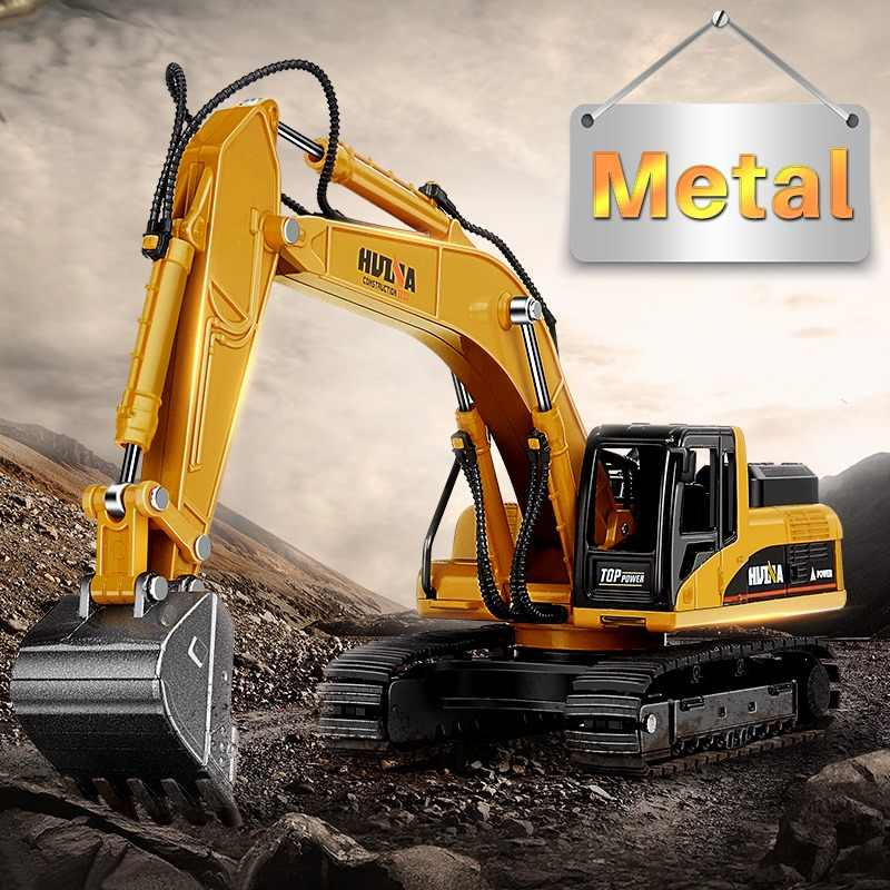 DODOELEPHANT 1:50 Alloy Excavator Truck Car Autotruck Breaking Hammer Vehicles Model Diecast For Boys Toy Gift Kid Excavator TOY