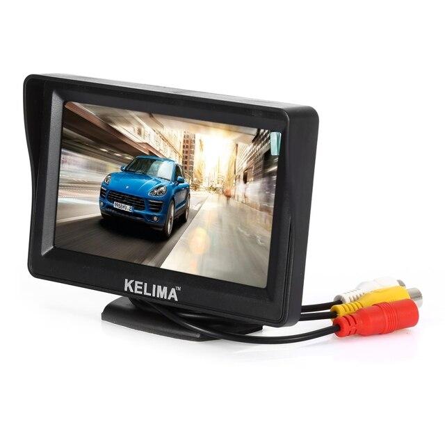KELIMA 4.3 дюймов Монитор Вид Сзади Автомобиля Зеркало Заднего Вида Видеорегистратор 4 СВЕТОДИОДНЫЕ Фонари Автомобилей Дисплей 2 в 1 Компл.