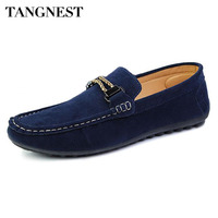 Summer Men S Flat Peas Shoes Male Fashion Solid PU Leather Lazy Shoes Breathable Slip On
