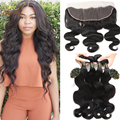 4Bundles Malaysian Body Wave With Closure 13x4 Ear To Ear Lace Frontal Closure With Bundles Malaysian Virgin Hair With Frontal