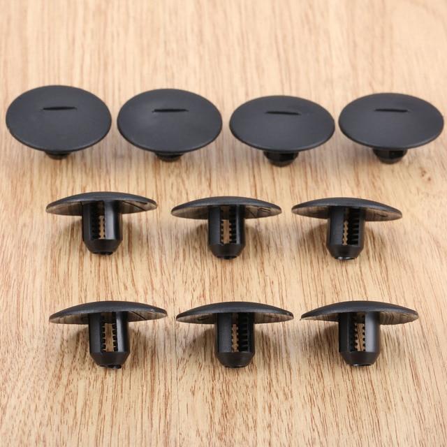 10 個自動ファスナーストライプカーペットストラップクリップ clamp フィットプジョー 408 307 206 シトロエン C5 C2 プラスチックファスナー