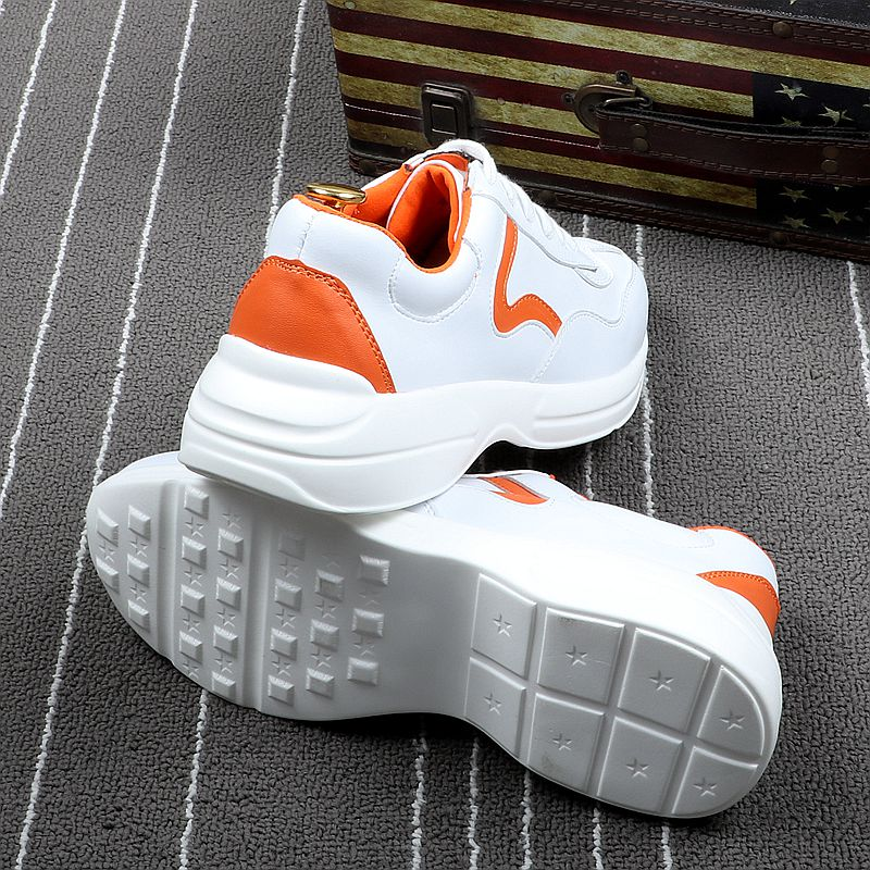 Marque Orange White Black Lacent Et Cuddlyiipanda Blanc Luxe Respirant Mode white Automne Casual Hommes Microfibre Printemps Sneakers Été Chaussures De eH9YE2IDWb