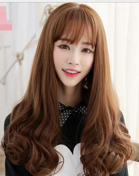 The Girl With Long Curly Hair Wig Pear Long Hair Cute Korean Air