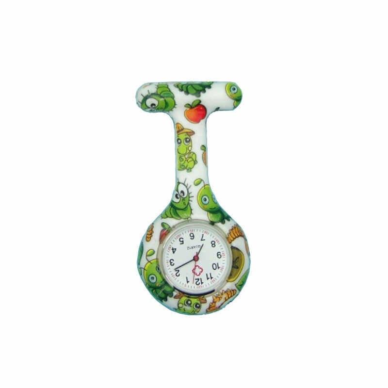 כיס שעון קליפ על פוב קוורץ סיכת תליית פרח אחות שעון אופנה מקרית גברים נשים לשני המינים גומי סיליקון feminino saat