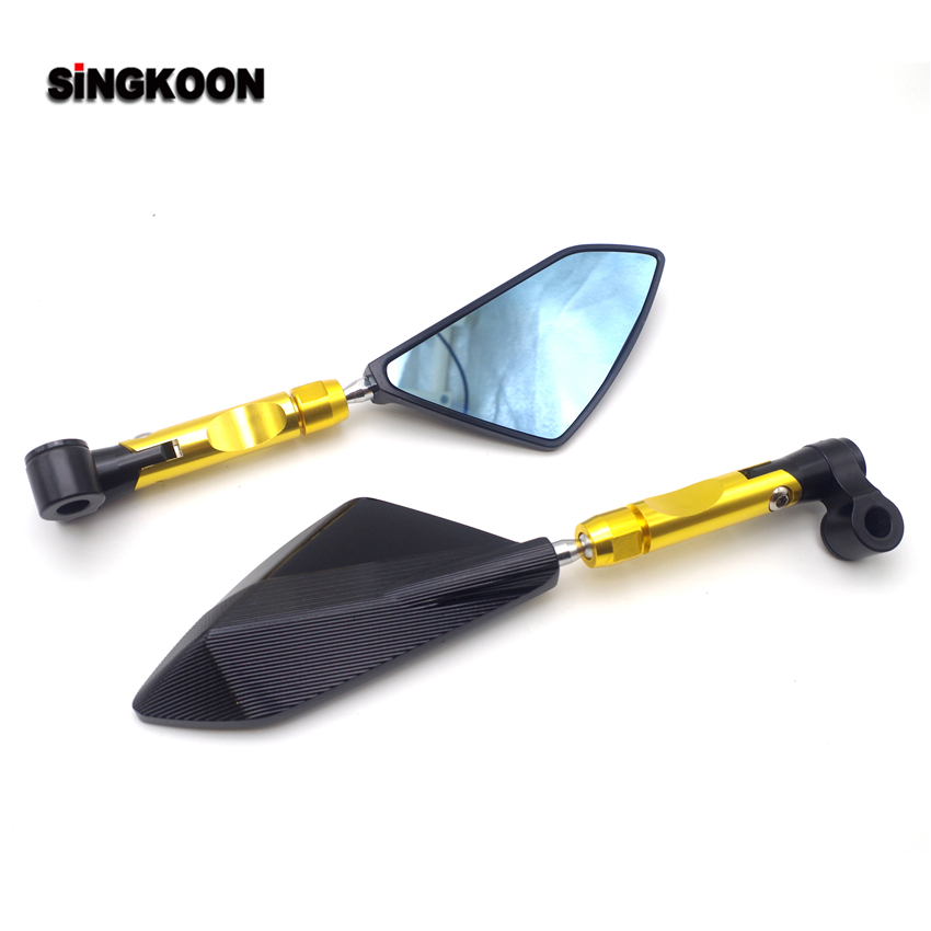 8 10mm universal motorcycle Accessories mirrors cnc Rearview Side Mirror FOR honda shadow vt 750 gs500 fz 25 honda sh 300 x adv