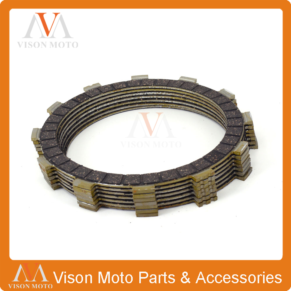 Clutch Friction Plates Disc Set 7pcs For YAMAHA XVS650AT V-Star Silverado 03-10 FZ-07 MT-07 2014 2015 2016 MT-07A FZ8 11-16