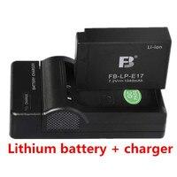 LP E17 LP E17 Camera Battery +charger lithium batteries LPE17 for Canon EOS 750D 760D M3 M5 professional Digital camera Battery