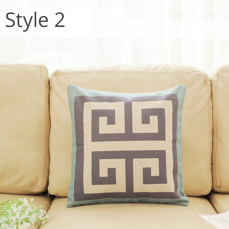 Top Finel 2016 Geometric Decorative throw Pillow case Linen Cotton Cushion Cover Creative ...