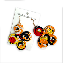 African Earrings For Women Ankara Cotton Wax Print Girls Fashion New