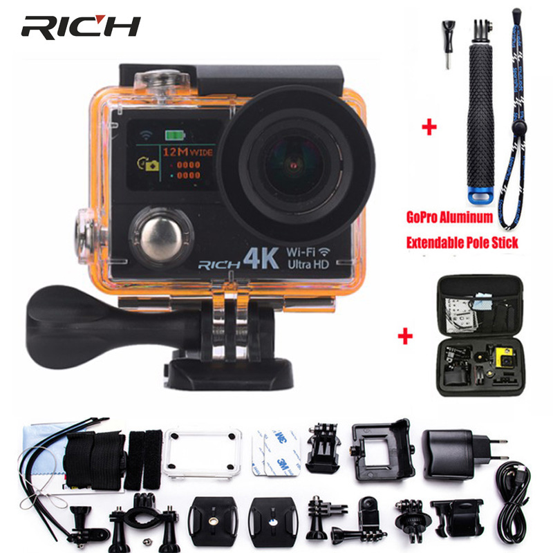 Action Camera H3R H3 4K Wifi Ultra HD 1080p/60fps 170D Lens Pro Dual Screen Camera Waterproof 30M Remote Control Sport Camera 2017 arrival original eken action camera h9 h9r 4k sport camera with remote hd wifi 1080p 30fps go waterproof pro actoin cam