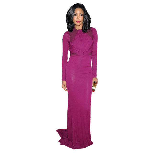 Met Gala Gabrielle Union alfombra roja Celebrity púrpura cuello ...