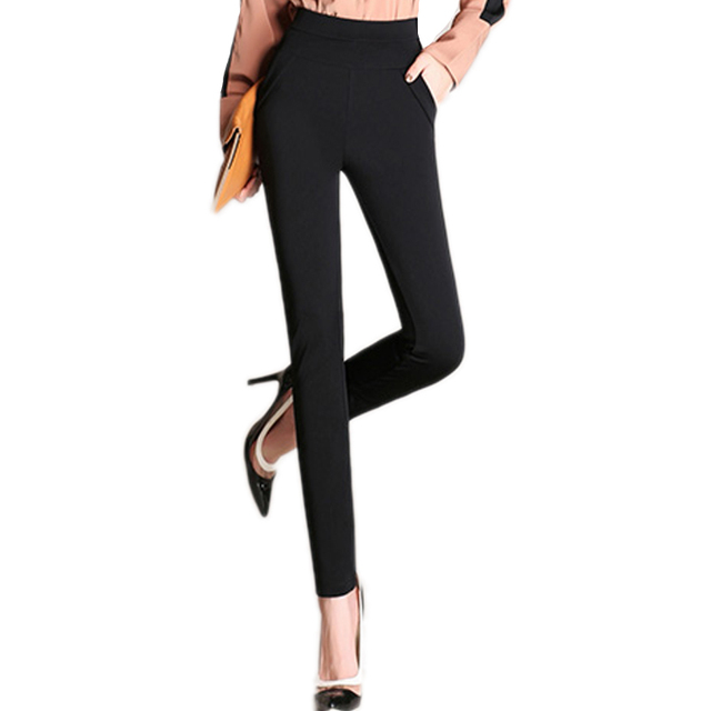 Fashion Women Pencil Pants Candy Color Solid High Elasticity Female Skinny Pants High Waist  Large Size Slim Trousers Leggings