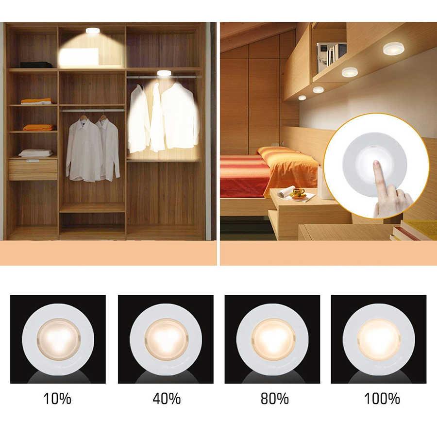 Dimbare Touch Sensor Led Onder Kast Licht Wandlamp Garderobe Kast Kast Licht Emergency Keuken Nachtlampje Voor Thuis