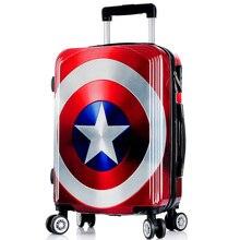 20/24/26 zoll Hohe qualität kühle Captain America trolley ABS + PC reisegepäck roll koffer männer business Internat box